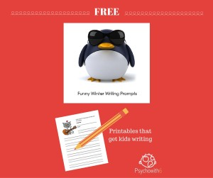 Free Funny Winter Writing Prompts: Christmas, Valentine's Day, K-12